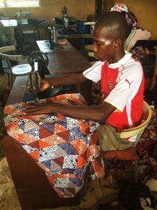 Tailoring workshop, Polio village