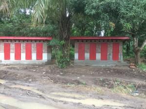 Magbenteh Community Boarding School toilets